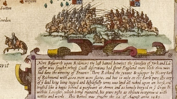 17th Century depiction of the Battle of Bosworth Field