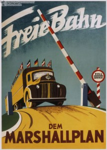 West German Poster about the Marshall Plan