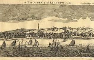 The port of Liverpool in 1754