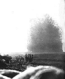 Detonation of a mine on the Somme Front