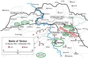 Map of the Battle of Verdun