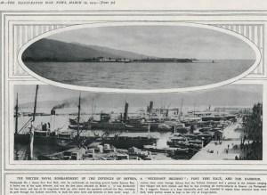 British warships bombard Smyrna