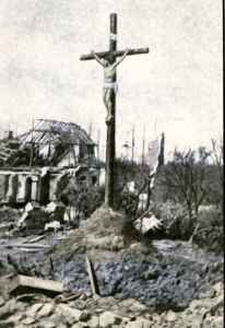 Crucifix in the middle of the Battlefield of Neuve Chapelle