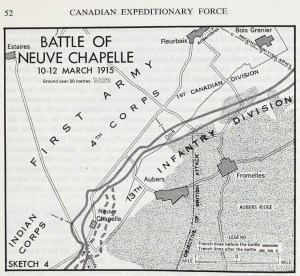 Canadian Sector of the Assault at Neuve Chapelle