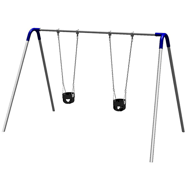 Bipod Swing Set with Two Toddler Seats: SCHOOLSin