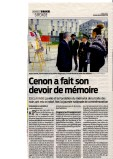 Article sur le 10 mai à Cénon. Sud-Ouest / 11 mai 2014