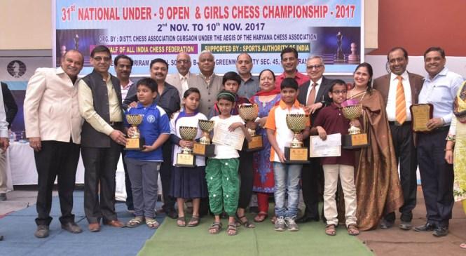 महाराष्ट्र के कदम ओम मनीष व केरला की अनुपम एम् श्रीकुमार बनीं शतरंज की राष्ट्रीय चैंपियन