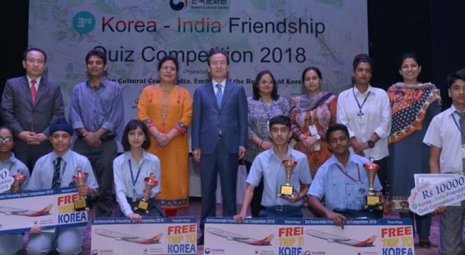 Students of 60 Schools Participates in Korea– India Friendship Quiz Competition