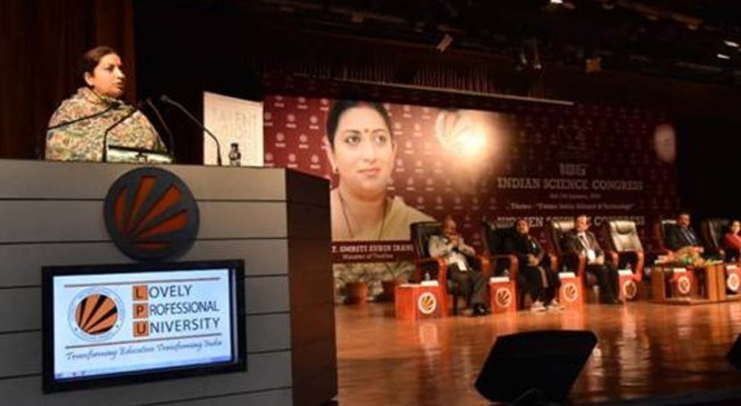Smriti Zubin Irani Inaugurates Women's Science Congress, 2019