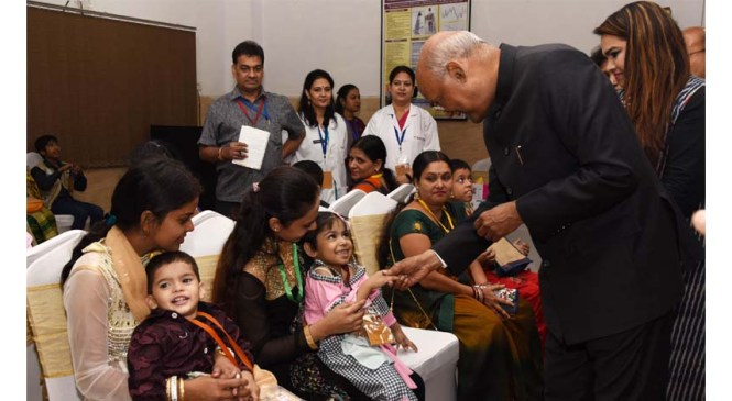 President Interacts with Rehabilitated Divyangjan Children