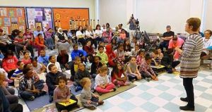 Enthusiastic kids and parents traveled from room to room, meeting the visiting authors.