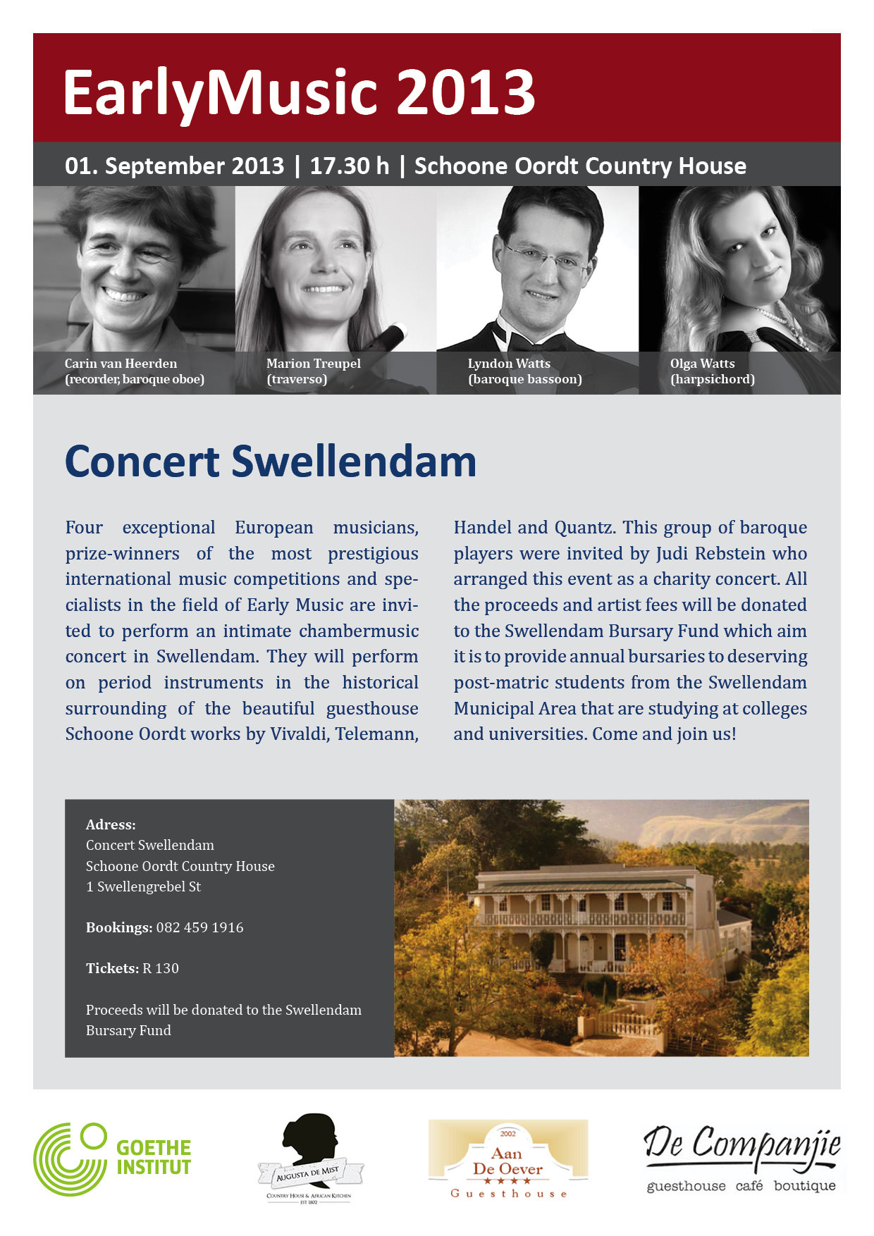 Swellendam House Concert at Schoone Oordt Country Hotel
