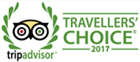 2017 Travellers' Choice badge award