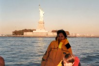 Sailing past the statue of liberty