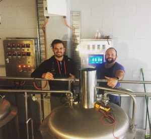 Jimmy (left) and Dave (right) of Aether Brewing.