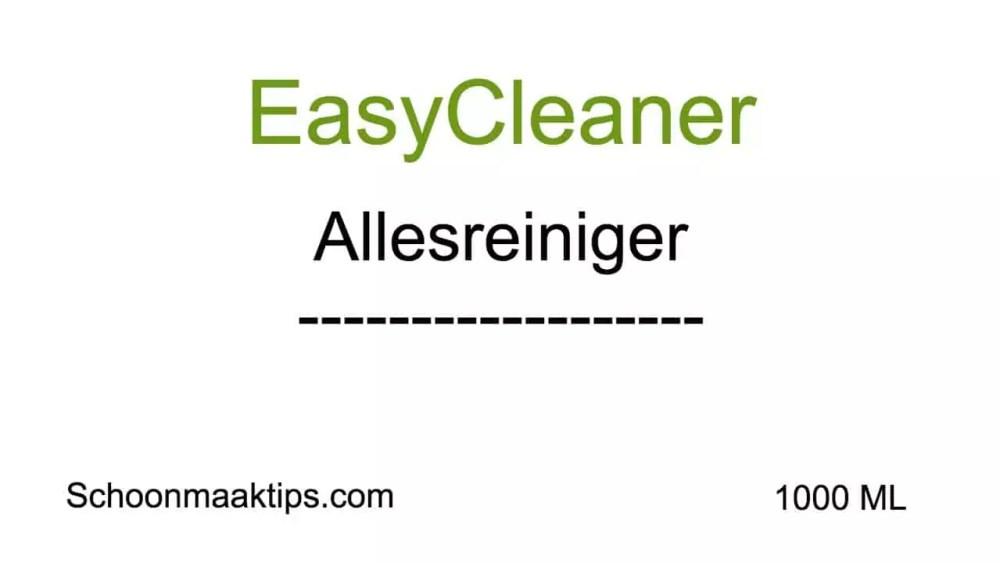 EasyCleaner Etiket