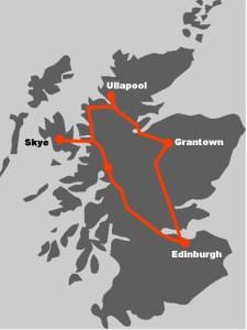 Die Route macht sichtbar, wo unsere individuelle Oekoreise Schottland fuehrt.
