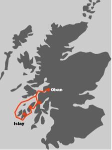 Per Route wird ersichtlich, wohin die Whisky Segelreise Schottland fuehrt.