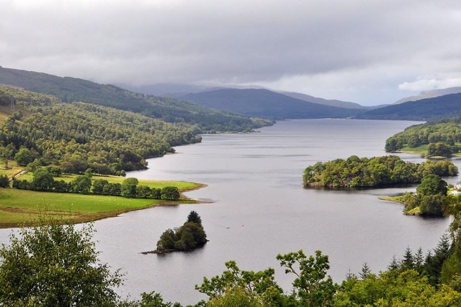 Am Queens View, der Teil unserer Standortreise ist, soll sich Koenigin Victoria in Schottland verliebt haben.