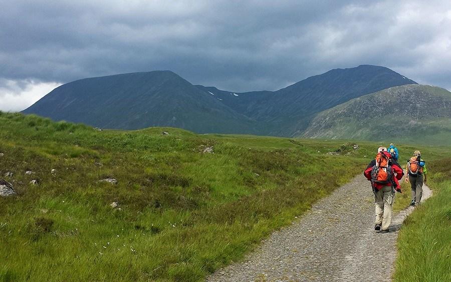 Beim Wandern auf dem West Highland Way im Westen Schottlands naechtigt man z.T. in einfachen Herbergen.