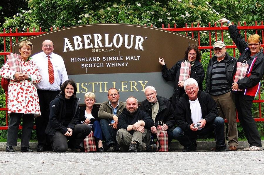 Aberlour ist eine Lieblingsbrennerei von Gaesten unserer Whiskyreisen durch Schottland aber auch der Reiseleiter.