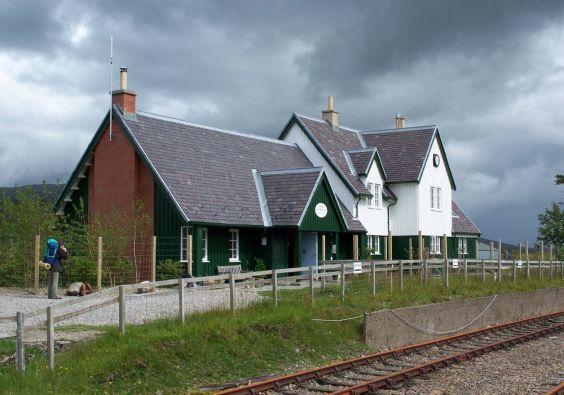 Die West Highland Line eine bekannte Bahnstrecke im Westen Schottlands.