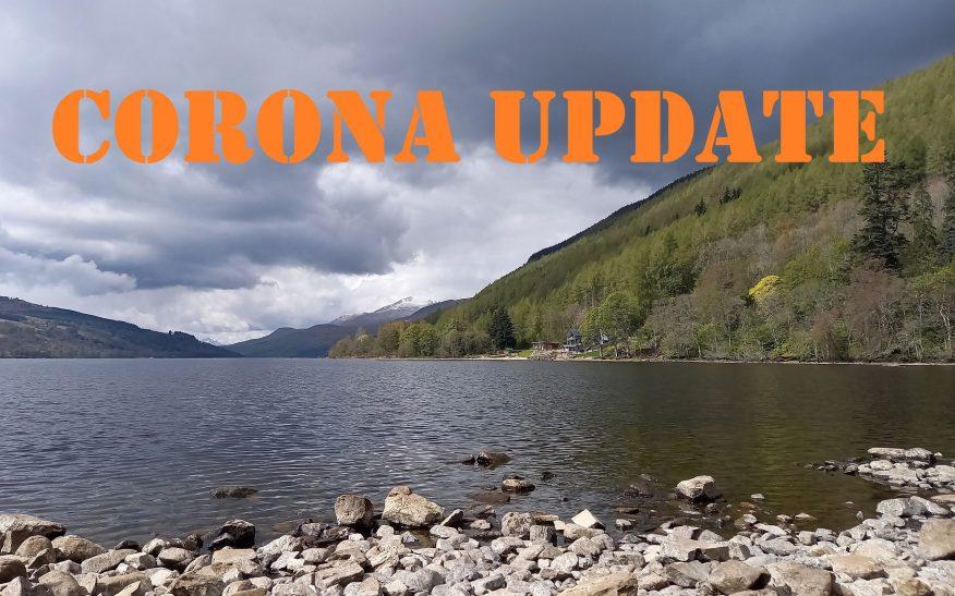 Aktuelle Corona und Covid Massnahmen und Regeln zum Reisen in Schottland.