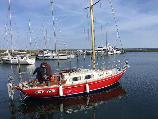 The kids got their first trip of the year - a trip through the marina.