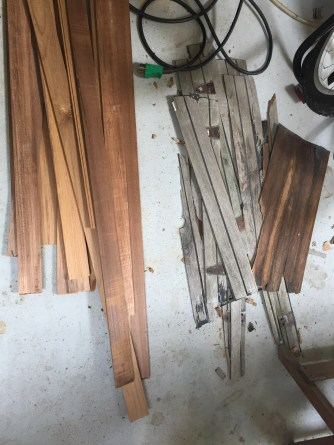 New and old teak
