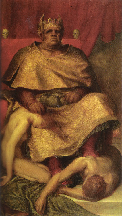 """Mammon"" von George Frederick Watts  (1885/85)"