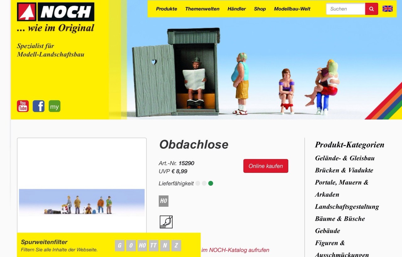 Screenshot www.noch.de