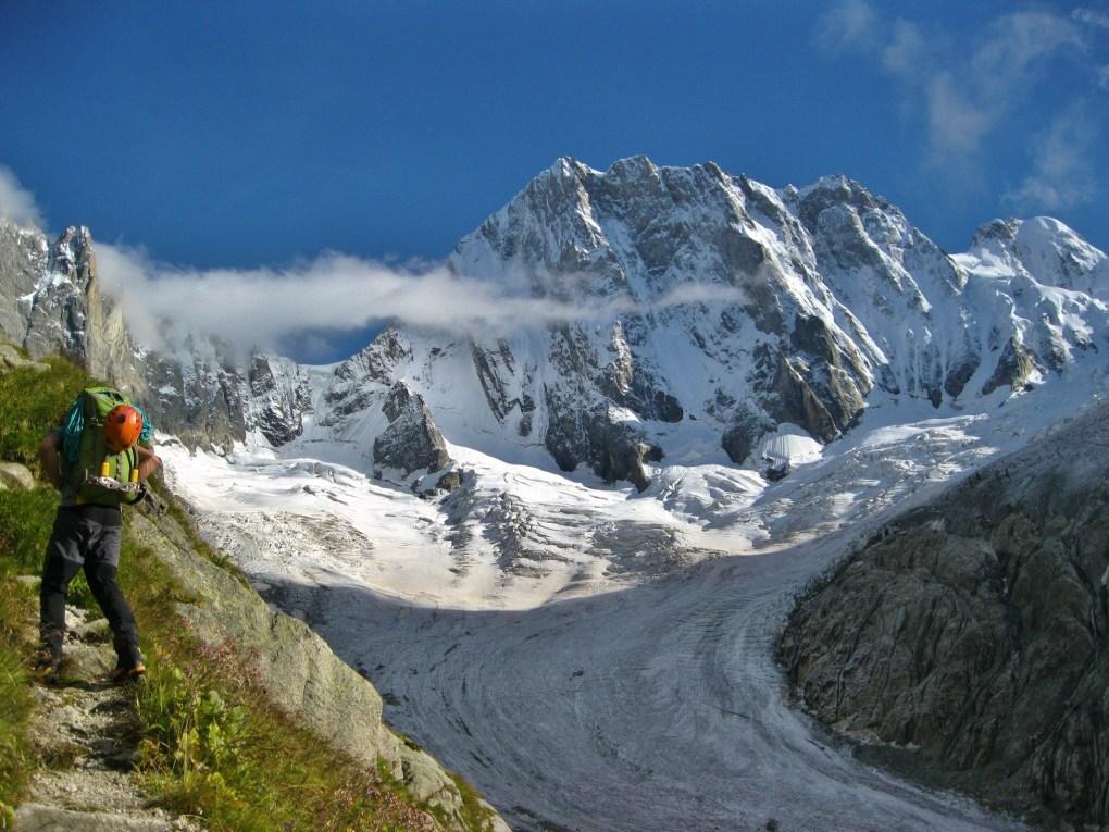 die Nordseite der Grandes Jorasses- für mich eine der eindrucksvollsten Wände der Alpen