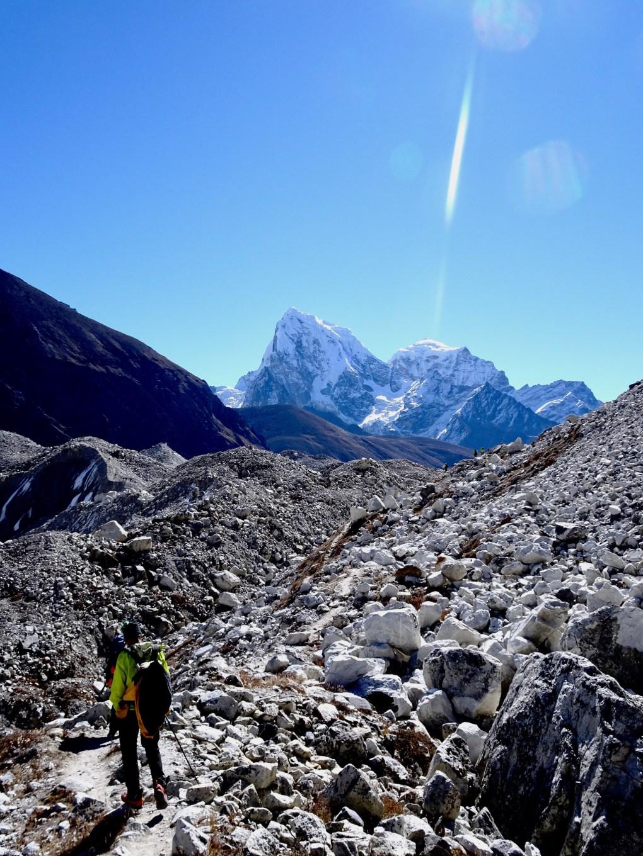 Egon beim überqueren des Gletschers