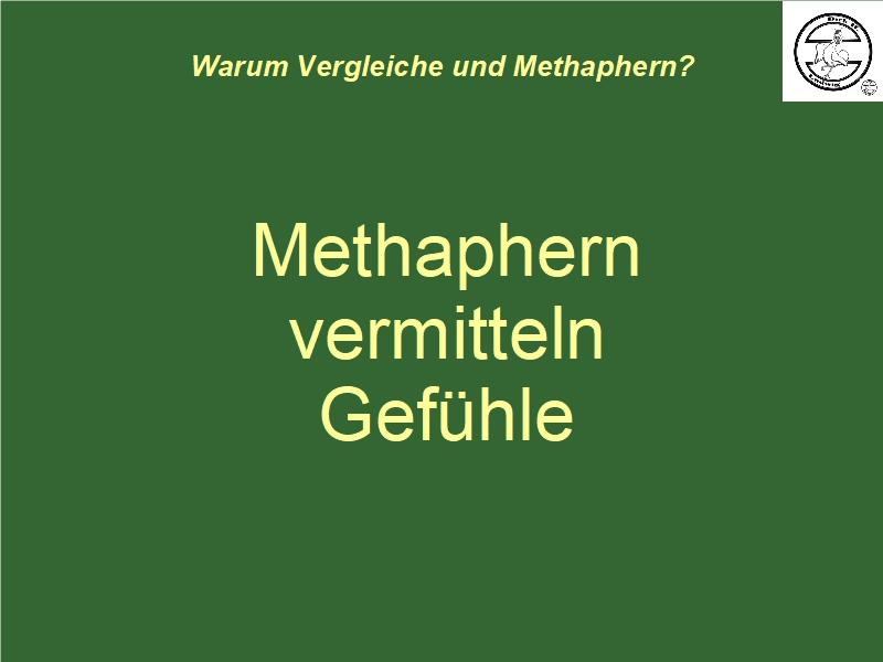 Metaphern vermitteln Gefühle
