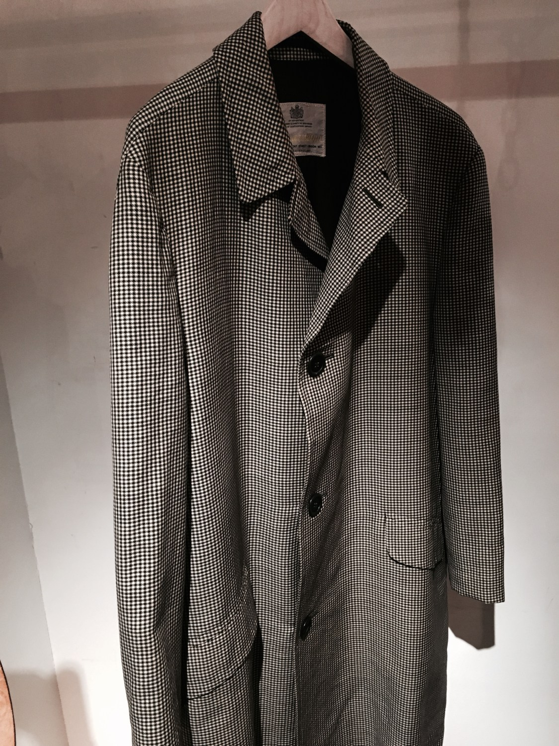 """Aquascutum"" Handstooth Check Coat"