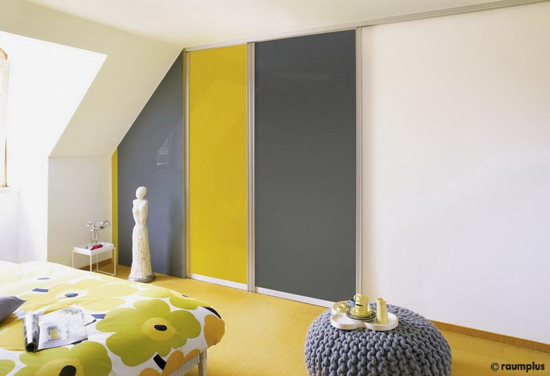 Raumteiler Dachschrage Vorhang