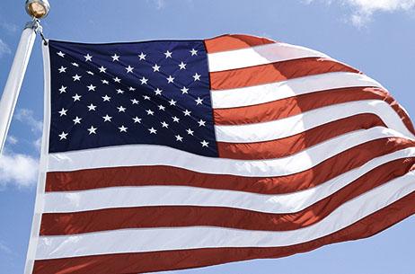 Schreiner University Waving American Flag