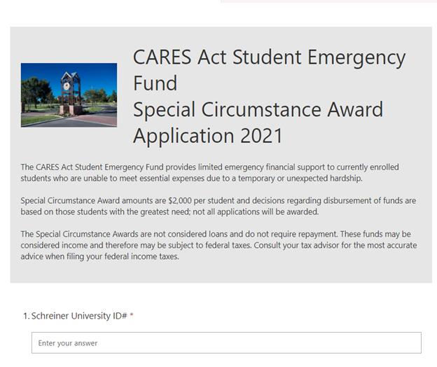 CARES Act Round 2- Award Application
