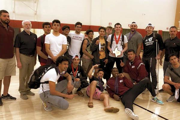 Schreiner University Men's Wrestling Team - 2019