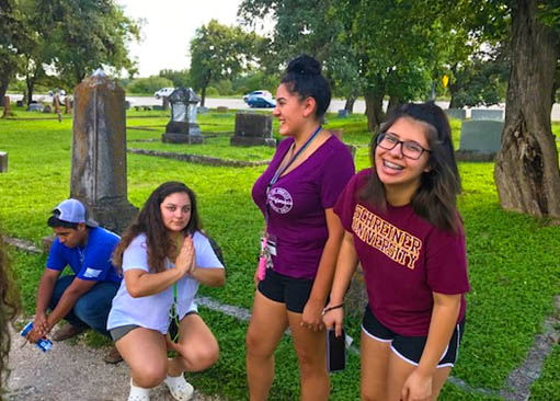 STEM LLC students explore the peaceful environment of the Glen Rest Cemetery in preparation for a service learning project for their career exploration course