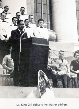 Dr. E. King Gill - 1964 Campus Muster