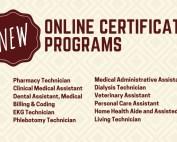 New Online Certificate Programs