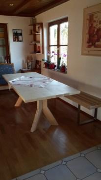 Sitzbank VARIMO Esche + Tisch mit Y-Fuß (3)
