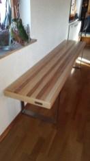 Sitzbank VARIMO Esche mit Braunkern (2)