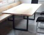 Tisch 2200 x 1000 mm mit Stahlkufen schwarz