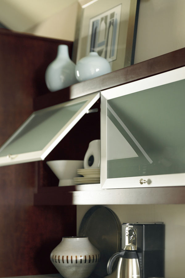 Aluminum Frame Cabinet Doors with Frost Glass  Schrock