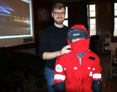 Polarforscher mit Thermo-Overall