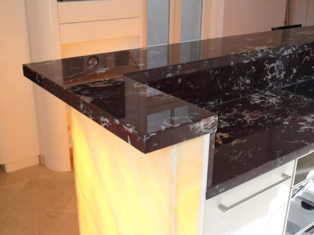 Marmor Arbeitsplatte Kuche Preis Hamburg Virginia Black Granit