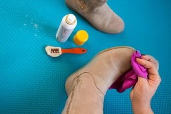 Schuhpflege von Rauleder