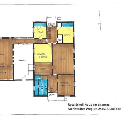 Grundriss Rosa-Scholl-Haus EG farbig